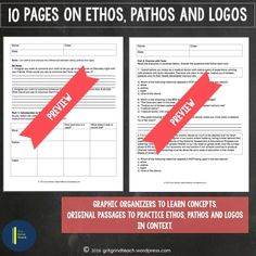 Introduce and practice ethos, pathos and logos with your middle school students using this comprehensive resource. Everything you need, including teacher directions, student materials, original passages for practicing and answer keys.