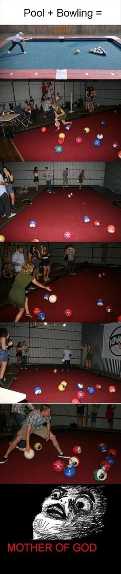 Pool, bowling & bocce all in one!