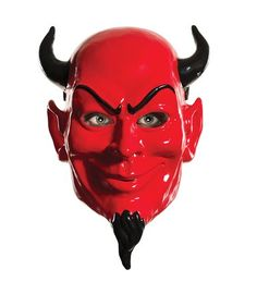 Rubie's Women's Scream Queens Devil 1/2 Mask, Red, One Size