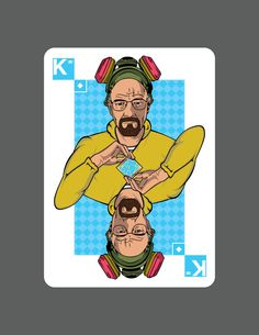 The beginning of my Breaking Bad playing card deck by Jeff Nichol, via Behance