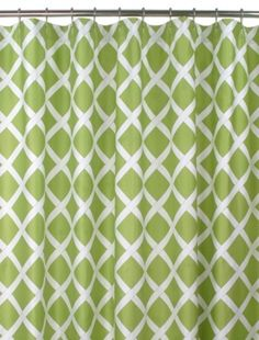 """Blissliving Home """"Kew"""" Green Shower Curtain Home - Bath - All Bath - Bloomingdale's Green Shower Curtains, Modern Shower Curtains, Cute Curtains, Boy Bath, White Shower, Laundry In Bathroom, Boutique, Decorating Ideas, Bathrooms"""