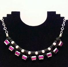 Perlenketten - Think Christmas - Kette in pink - ein Designerstück von Patikreli bei DaWanda