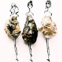 Imagine só croquis de moda feitos com...comida. A ilustradora e designer de moda Gretchen Roehrs cria desenhos delicados e com um toque lúdico encomendado da cozinha.