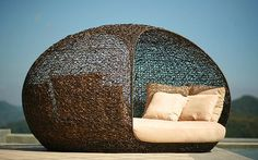 Catch a Mid-day Nap on these Outdoor Daybeds. Rattan furniture