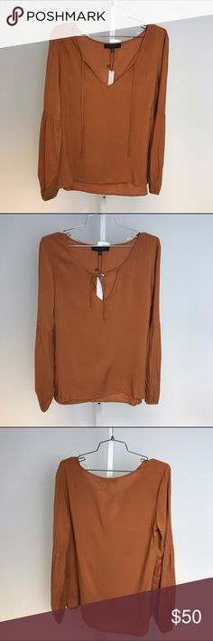 SANCTUARY Boho Peasant Top Gorgeous burnt orange top. Can be tied in the front or left open. Would look great with jeans and booties. Brand NWT. Sanctuary Tops Blouses