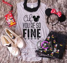 Oh Mickey You so Fine Shirt, Oh Mickey You so Fine Disney Tank, Hey Mickey Shirt, Disney Squad Tank, Ladies Disney Tank- Muscle Tank Disney Tank Tops, Matching Disney Shirts, Disney Shirts For Family, Disney World Shirts, Disney Diy, Cute Disney, Disney Style, Disney Ideas, Disney Magic