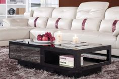 Modern style fashionable tempered glass coffee table - MelodyHome.com