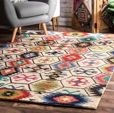 Toubqal Hand-Tufted Beige Area Rug