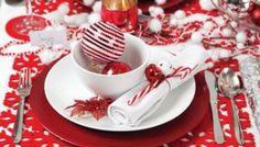 Decorazioni di Natale in rosso