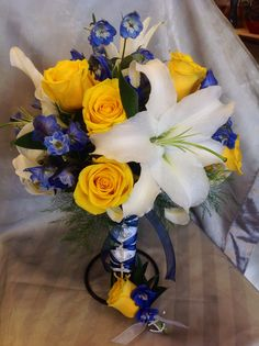 Country Elegance Florist  Grand Junction, CO  Anchor studded bouquet is so cute!