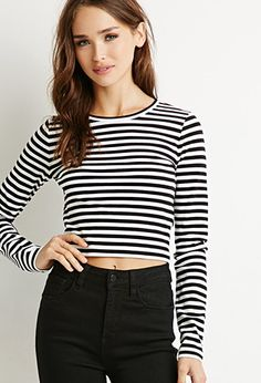 Striped Crop Top | Forever 21 - 2000167175