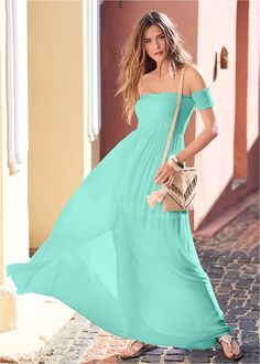 SMOCKED DETAIL MAXI DRESS Formal Dress Shops, Formal Dresses, Maxi Styles, Tie Dye Dress, Floral Maxi Dress, Smocking, Party Dress, Fashion Outfits, Venus