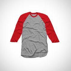 Basic Tees, Grey Tee, Red And Grey, Campaign, Bomber Jacket, Detail, Medium, T Shirt, Jackets