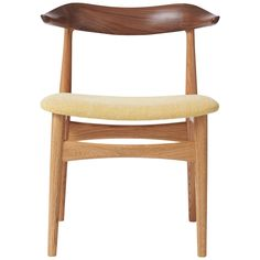 Cow Horn Mixed Wood Chair, by Knud Færch from Warm Nordic Cow Horns, Danish Furniture, Curved Lines, Dining Room Chairs, Types Of Wood, Upholstery, Modern, 1960s, Warm