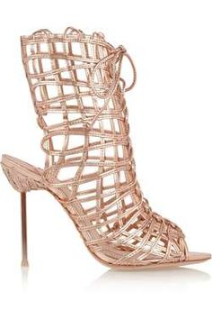 581ebe034 Shop for Delphine metallic leather sandals by Sophia Webster at ShopStyle. Metallic  SandalsLace Up ...