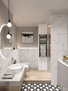 Scandinavian Bathroom Interior Design Elegant Elegant Scandinavian Style Home with Green Decor White Bathroom, Modern Bathroom, Small Bathroom, Master Bathroom, Bathroom Mirrors, Bathroom Faucets, Bathroom Canvas, Bathroom Cabinets, Scandinavian Style Home