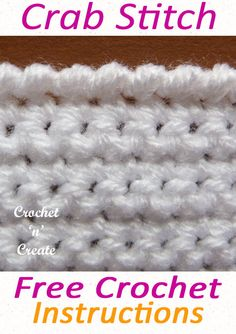 Free crochet crab stitch tutorial, this is one of my favorite edgings and I have used it in many of my designs, lean how to crochet from my pictorial on #crochetncreate #crochetstitches #crochettutorials #crochetpictorials #crochet #diy #crochetedging