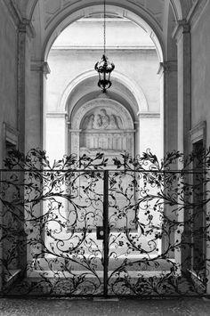Beautiful iron-work gates
