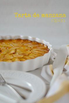 Tarta de manzana rápida Sweet Recipes, Cake Recipes, French Apple Cake, Cooking Recipes, Healthy Recipes, Barbacoa, Nutella, Bakery, Food And Drink