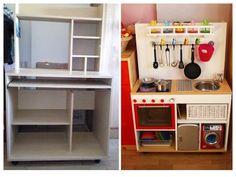 3 cocinitas hechas con muebles reciclados | Hacer bricolaje es facilisimo.com