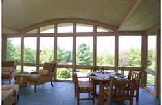 Screen porch in a house by Sarah Susanka...