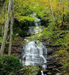 Cascade at E. B. Jeffress Park on Blue Ridge Parkway. Very walkable paths beside the falls and large stream, safe for anyone, incredible beauty.