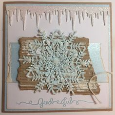 Anita's papirverksted: Julekort med snøfnugg