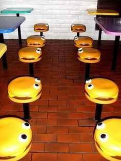 I distinctly remember a McDonald's visit with my uncle.  He bought me nuggets and I sat on one of these.....