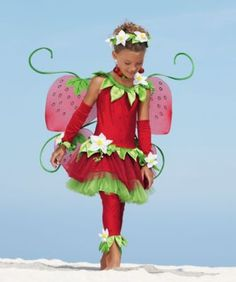 strawberry fairy girls costume