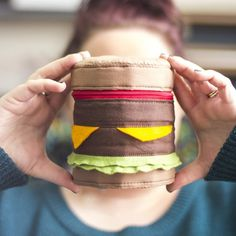 Make this amazing zipped cylinder case that will satisfy those fast food cravings without all the calories!