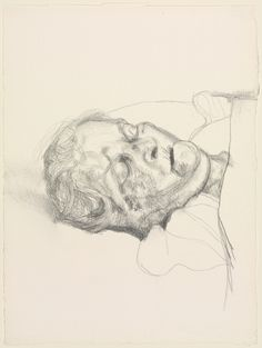 Lucian Freud, The Painter's Mother, Dead, 1989, Charcoal, 33,3 x 24,4 cm, The Cleveland Museum of Art