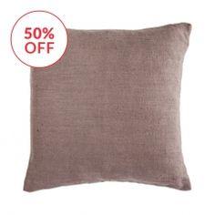Herringbone Linen Square Earth Cushion Cover