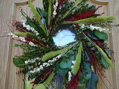 Twig Wreath, Green Wreath, Wreath Crafts, Floral Wreath, Indoor Wreath, Outdoor Wreaths, Lavender Wreath, Eucalyptus Wreath, Wreath Supplies