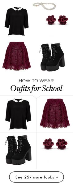 """""""School"""" by angiem104 on Polyvore featuring Alice + Olivia and Lipsy"""