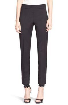 Oscar de la Renta Stretch Wool Slim Pants $355.98  #BestReviews #fashion! #WomensClothing