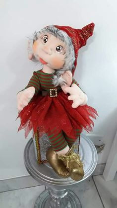 Christmas Elf, Christmas Crafts, Christmas Ornaments, Garden Angels, Fun Crafts, Wreaths, Dolls, Holiday Decor, Party