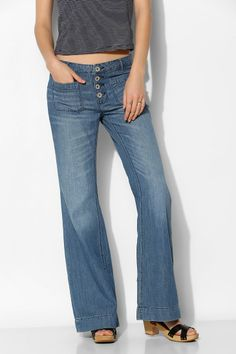 SOUTHERN THREAD ADDISON JEANS Cowgirl Wide Leg RELAXED LOW ...