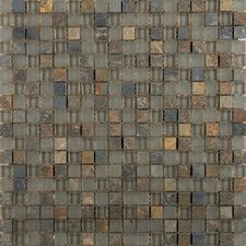 Lucente Glass Mosaic Tile in Gray  WF