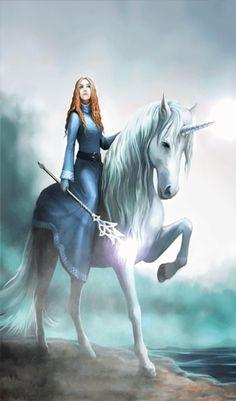 Anne Stokes, Unicorn Fantasy, Unicorn Art, Unicorn Humor, Unicorn Painting, White Unicorn, Unicorn Crafts, Rainbow Unicorn, Creature Drawings