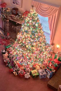 I swear...this is how I thought my tree looked on Christmas mornings as a child...