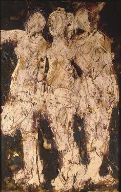 Manolo Valdés Alberto Burri, Spanish Artists, Figure Painting, Contemporary Art, Besta, Abstract Art, Portrait Paintings, Fine Art, Negative Space