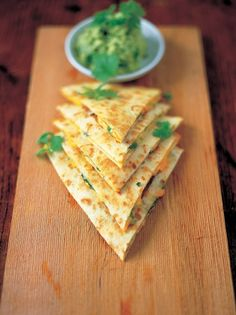 Quesadillas with Guacamole Cheese Recipes | Jamie Oliver Recipes