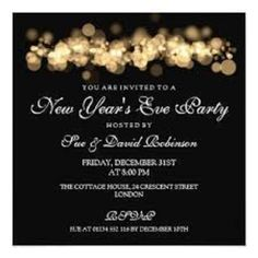 new year party invitation card design