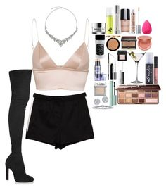 """""""Sin título #681"""" by hpf1102 ❤ liked on Polyvore featuring T By Alexander Wang, Alaïa, GlamGlow, Urban Decay, Giorgio Armani, beautyblender, Benefit, Too Faced Cosmetics, tarte and Kevyn Aucoin"""