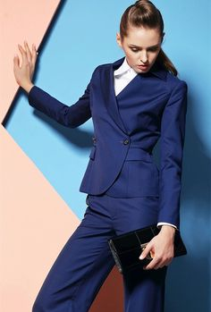 Back To Search Resultswomen's Clothing Suits & Sets Custom Royal Blue Work Bussiness Formal Elegant Women Suit Set Blazers Pants Office Suits Ladies Pants Suits Trouser Suit Vivid And Great In Style