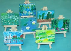 Image result for monet waterlilies to colour kids