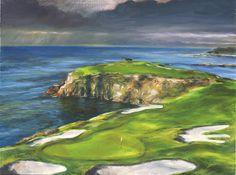 Golf Art. Golf Gift. Pebble Beach Golf Club by GolfImpressionsPlus, $24.00