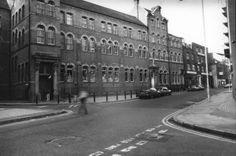 Providence Row Refuge, Women's entrance, Crispin St London - now LSE housing