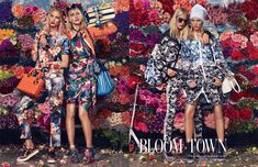 Spring trends of floral prints featured in W Magazine