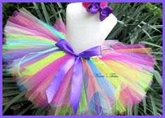 CUSTOM - Kaliedoscope Tutu perfect for Photo Shoots and Birthdays in Size 4-6yrs $28